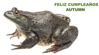 Autumn  Animals & Animales - Happy Birthday