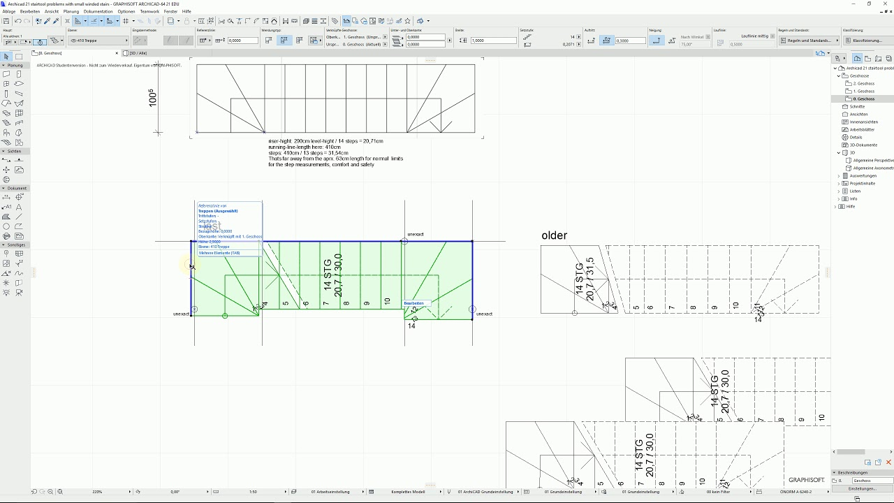 Archicad21 Tutorial Creating Problematic Double Winder Stair Youtube | Double Winder Staircase Design | Handrail | Attic | Bespoke Staircase | Medium Oak | Small Space