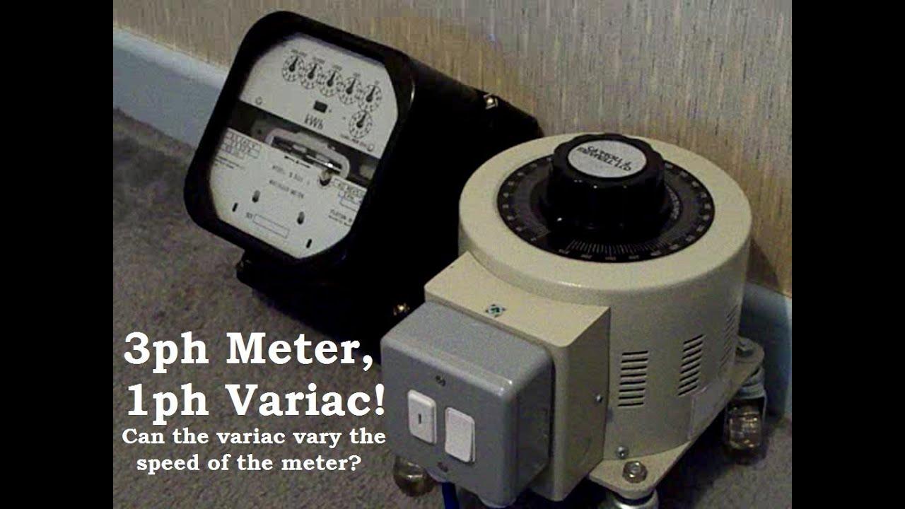 Electricity Meter Three Phase Single Variac Youtube Vs Wiring
