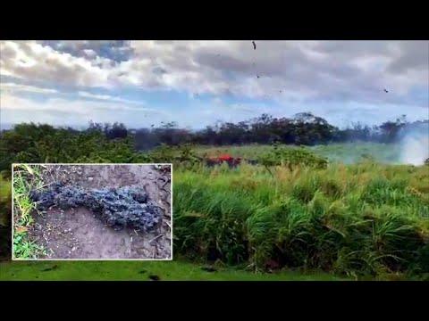 Lava Bombs Wreak Havoc on Hawaiian Island