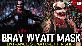 WWE 2K19 Bray Wyatt New Mask 2019 Updated Model Entrance, Signature, Finisher   PC Mods