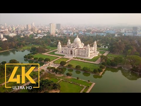 4K Kolkata, West Bengal, India - 4K City Life - Best Of India - 2.5 HRS