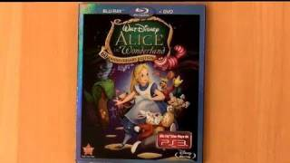 Disney Alice in Wonderland blu ray unboxing review
