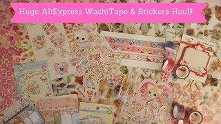 Huge AliExpress Washi Tape & Stickers Haul!!