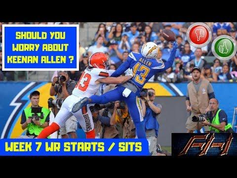 2018 Fantasy Football Lineup Advice  - Week 7 WR's Start/Sit Episode
