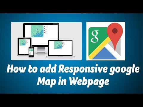 Responsive Google Map In Webpage