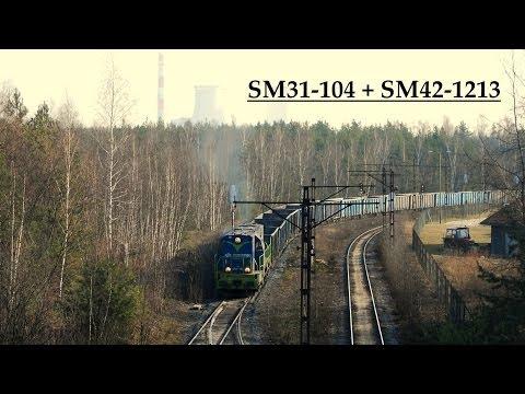 [ PKP Cargo ]  SM31-104 z popychem SM42-1312. 2014-02-05