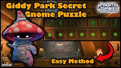 Giddy Park Secret Gnome Puzzle Easy Solving Method - PvZ Battle For Neighborville