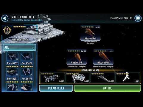 Swgoh Geo TB P3 Geo Ships vs Negotiator