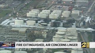 Fire extinguised, air concerns linger