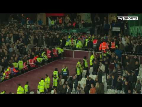 Football Hooligans - West Ham v Chelsea - London Stadium