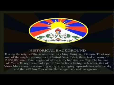 TIBETAN NATIONAL FLAGE EXPLANATION / SYMBOLE