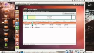 Ubuntu etc Gparted, añadir discos aumentar compartir datos discos virtuales diferentes, Virtualbox