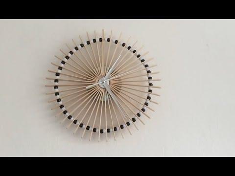 [Handmade] – Hướng dẫn làm đồng hồ treo tường từ que kem tuyệt đẹp – MinHouseSystem.com