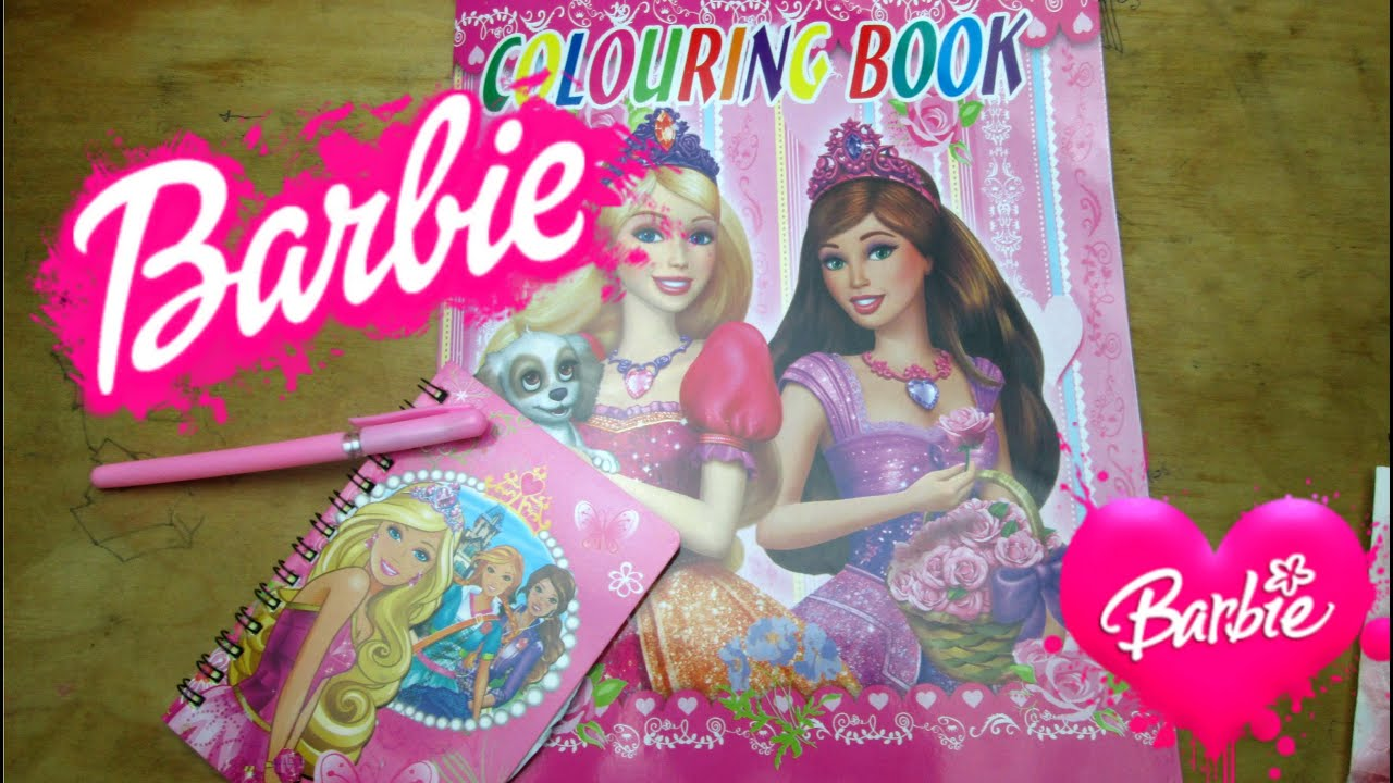 Barbie Coloring Book Barbie notebook Barbie stickers Happy Toys for ...