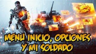 Battlefield 4 - Guía multijugador - Menu de inicio / Mi soldado / Opciones