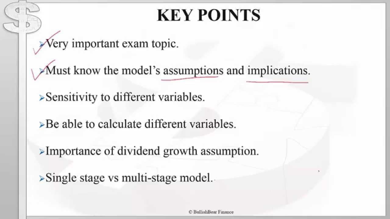 CFA Level 1 Equity Valuation Gordon Growth Model Part 1 YouTube