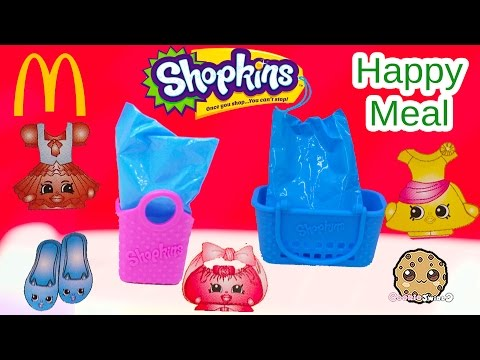 Mcdonalds Fast Food Happy Meals Exclusive Shopkins Seasons 1, 2, 3, 4 ? Blind Bags Part 1