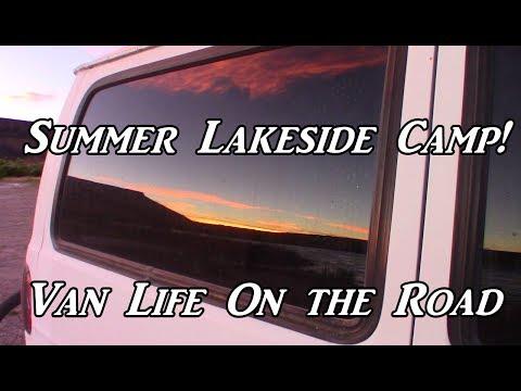 Lakeside Camp! Crane Falls VanLife On the Road