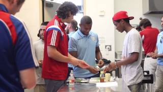 FC Dallas and Aston Villa FC visit Cafe Momentum | FCDTV