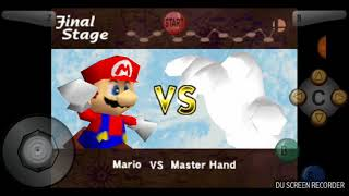 Lutando contra 2 bosses no super smash bros