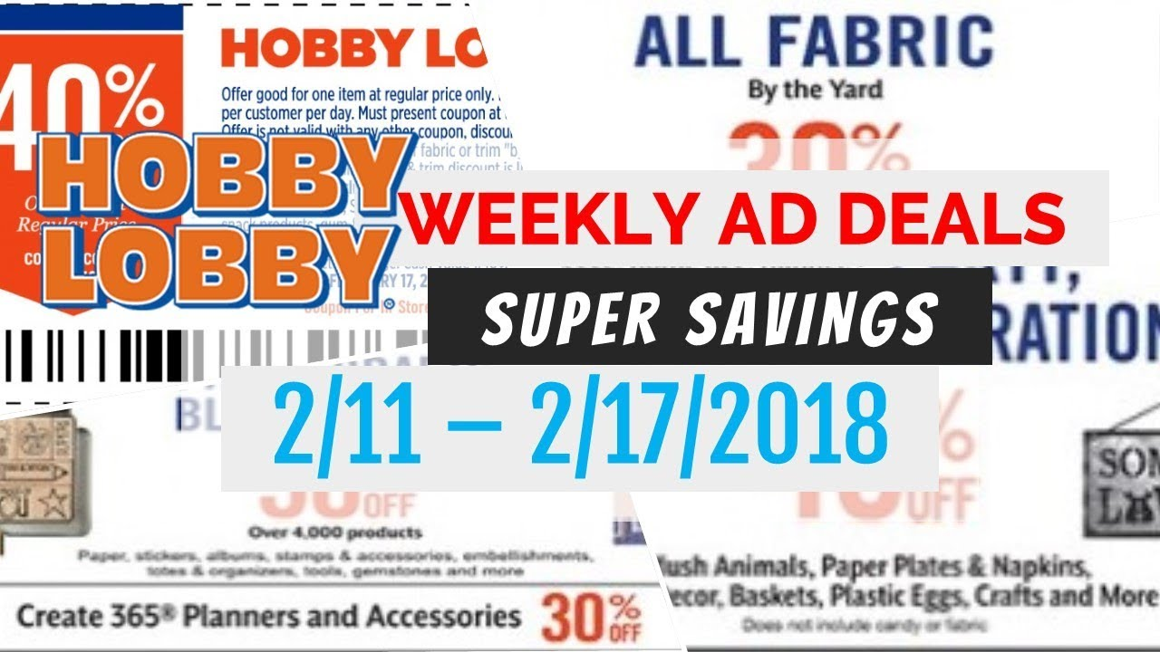 hobby lobby coupon sept 2018