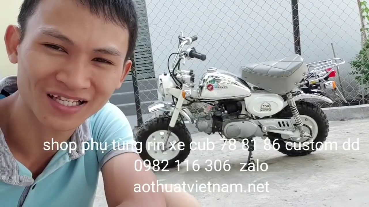 65tr Honda mini bike monkey 50cc, xe rin hàng độc cho ae sưu tập xe cổ. Shop phụ tùng rin zin