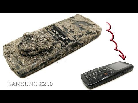 Реставрация старого SAMSUNG E200 & заброшенный телефон восстановления SAMSUNG E200
