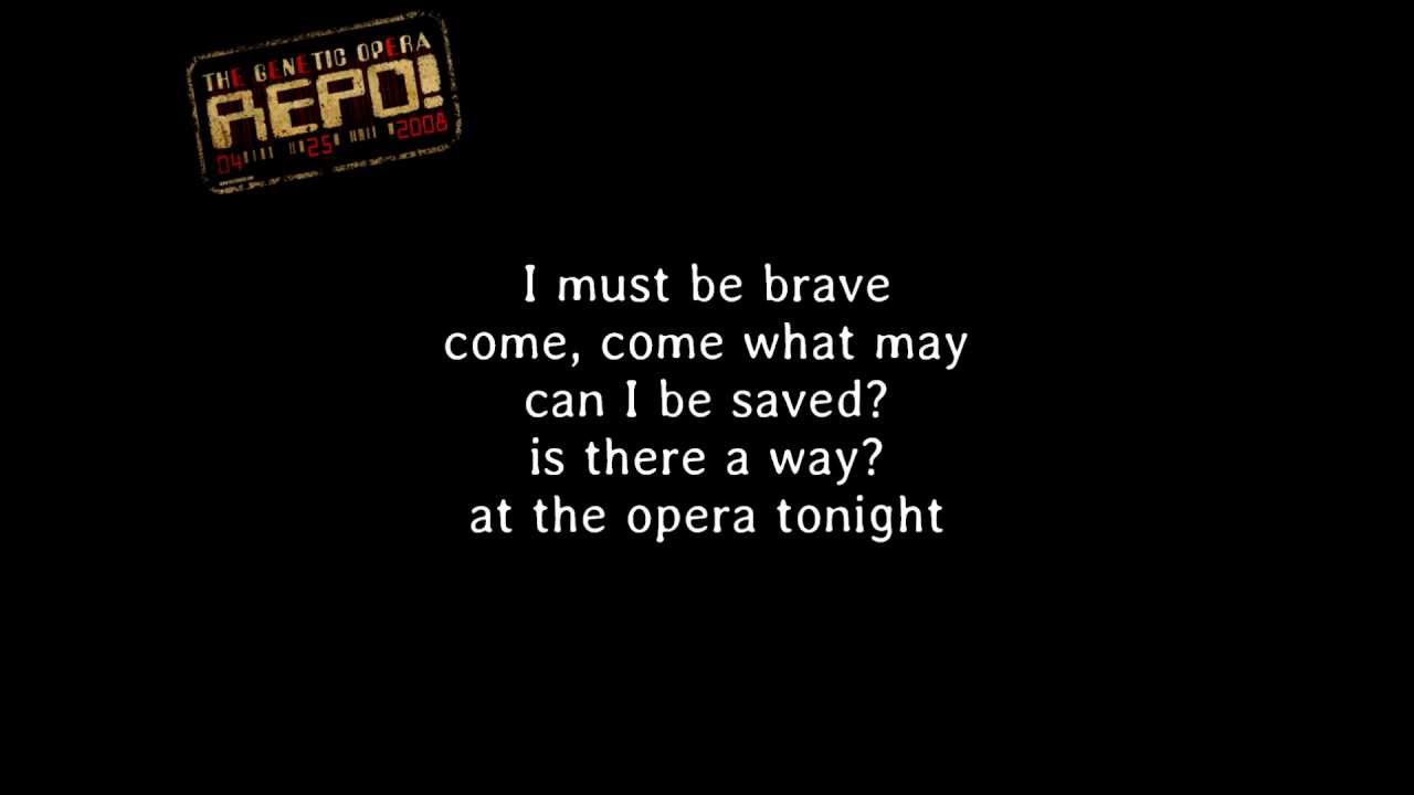 Repo! The Genetic Opera - At The Opera Tonight [Lyrics] - YouTube