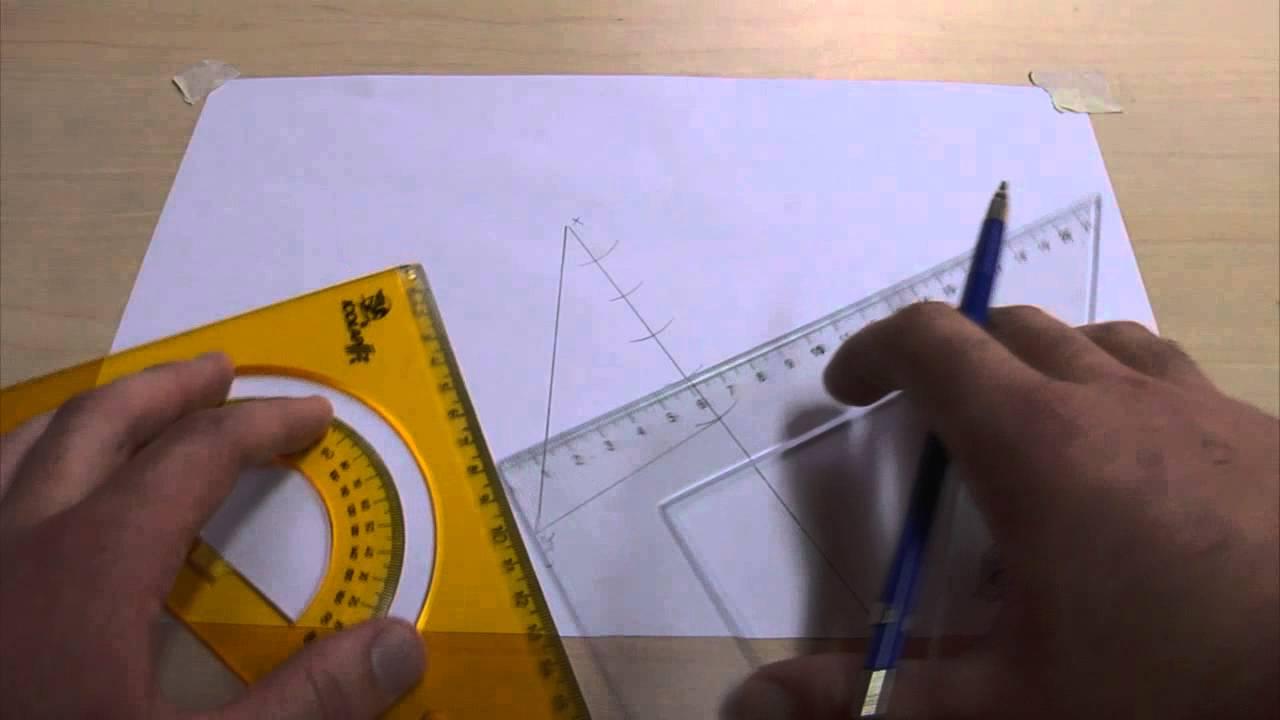 Dividir un segmento de recta en n número de partes iguales - YouTube