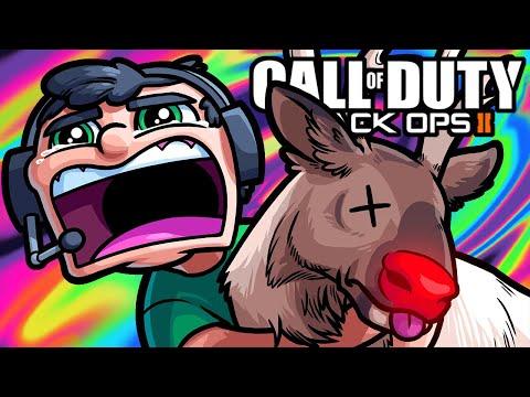 BO3 Zombies Funny Moments - Vanoss Fails to Save Christmas!