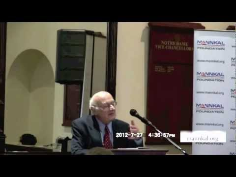 Emeritus Professor Max Corden speaking at Freedom to Choose 2012
