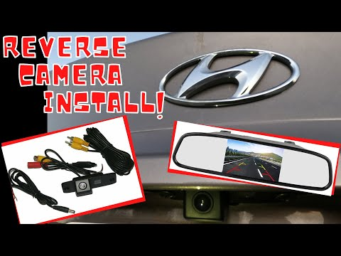 HOW TO INSTALL A REVERSE CAMERA IN YOUR CAR  Our 2014 Hyundai Accent gets a Back-Up Camera!