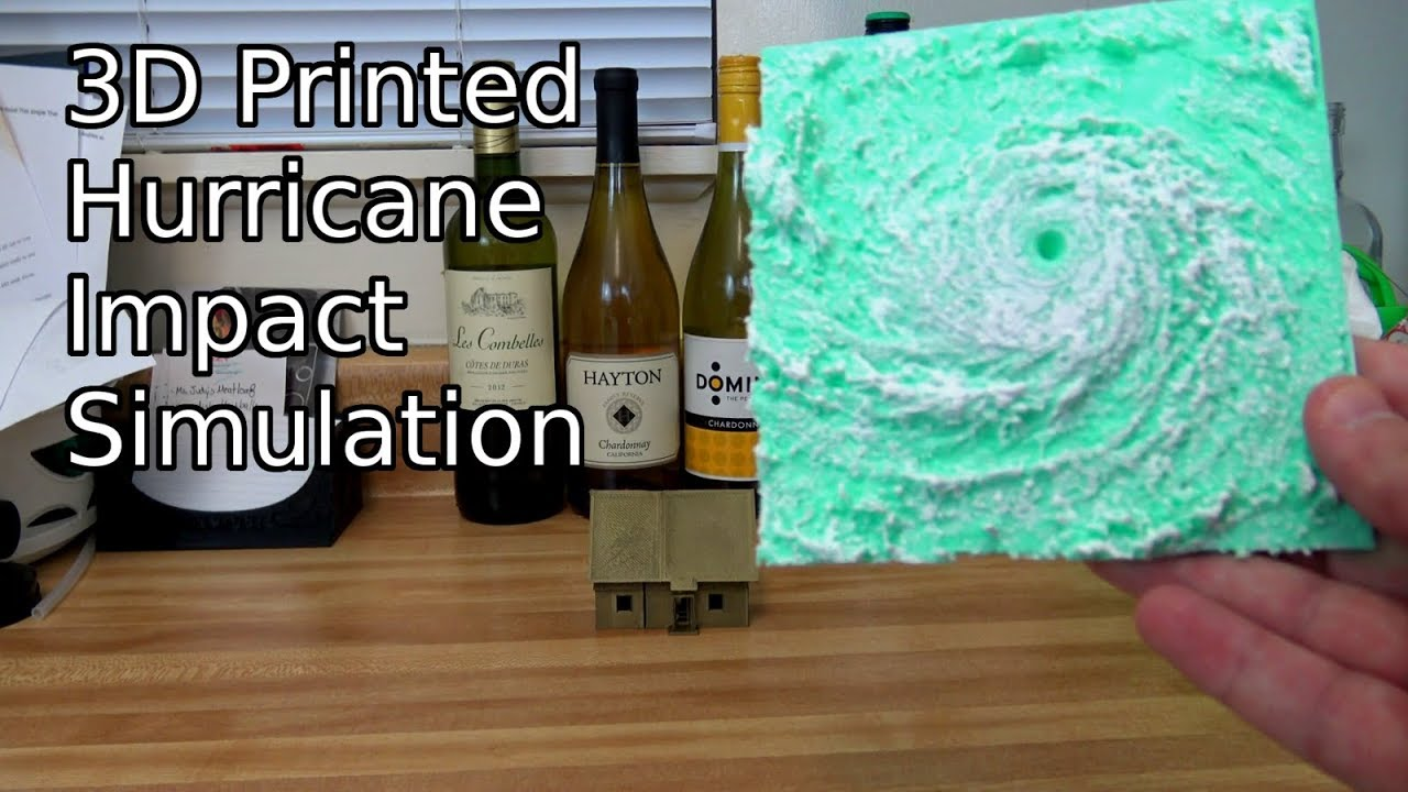 3d Printed Simulation Of A Hurricane Impacting House