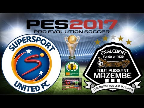 PS4 PES 2017 Gameplay Supersport United vs TP Mazembe HD