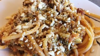 Pasta con i broccoli alla palermitana - Italian pasta with broccoli recipe  (eng subs)