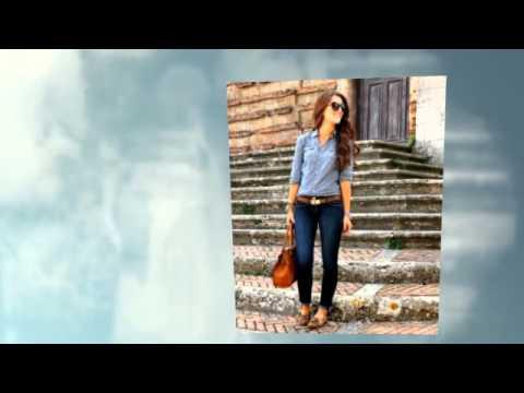 Модная джинсовая рубашка 2015