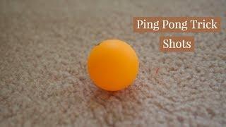 Ping Pong Trick Shots   A&M Trick Shots