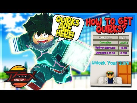 NEW QUIRK UPDATE! HOW TO GET ALL QUIRKS + NEW 100QD TRAINING AREA IN ANIME FIGHTING SIMULATOR ROBLOX