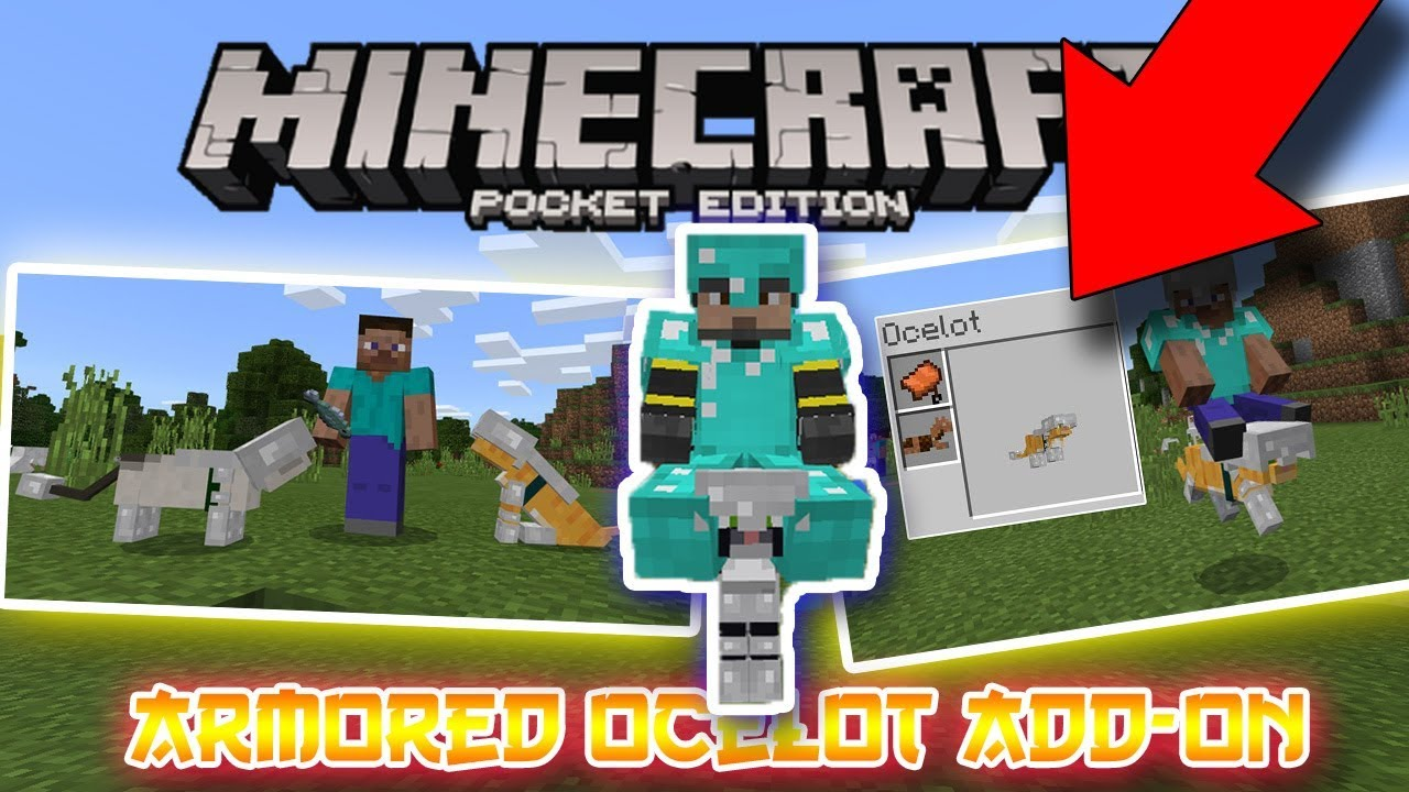 How To Put Armor On An Ocelot In Minecraft Pocket Edition Cat Armor