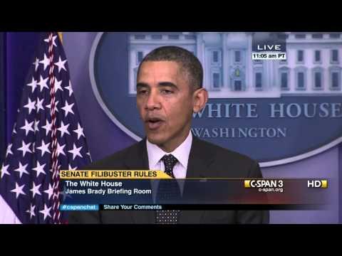 President Obama on Senate Filibuster Rule Change (C-SPAN)