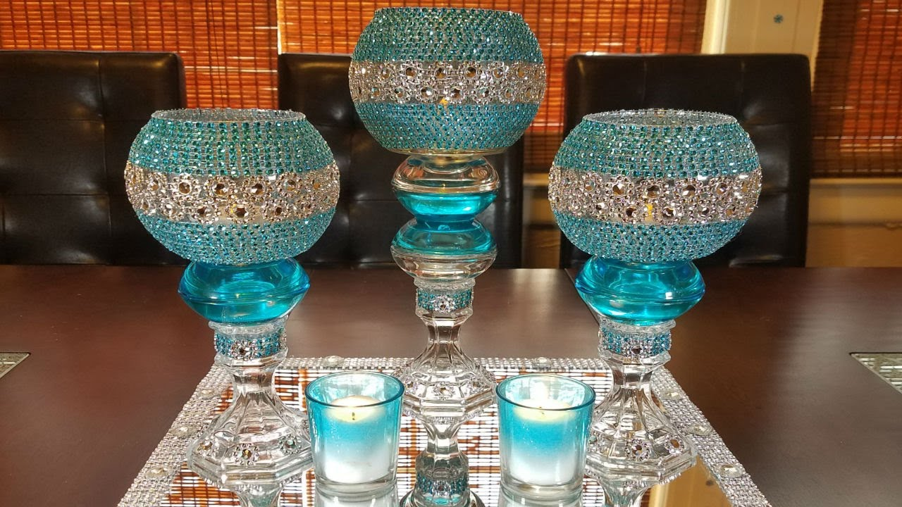 centerpiece ideas diy glamorous candleholder centerpiece - Centerpiece Ideas