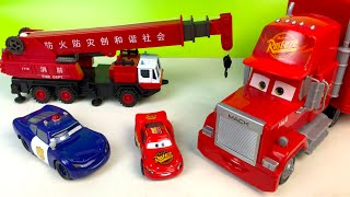 DISNEY CARS MACK THE TRUCK RESCUES LIGHTNING MCQUEEN SALLY MUTANT NINJA RAPHAEL T-RAWKET & HULK