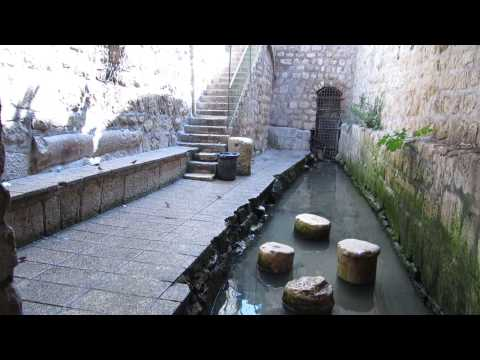 City of David-  Going out from Hezekiah's water tunnel in Jerusalem to the Byzantine Siloam Pool