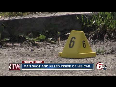 One man shot, killed in car on Indy's northeast side