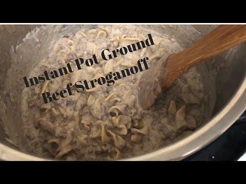 Instant Pot Ground Beef Stroganoff