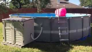 Intex Pool Ultra Frame Sand Filter And Salt Water System Second Season