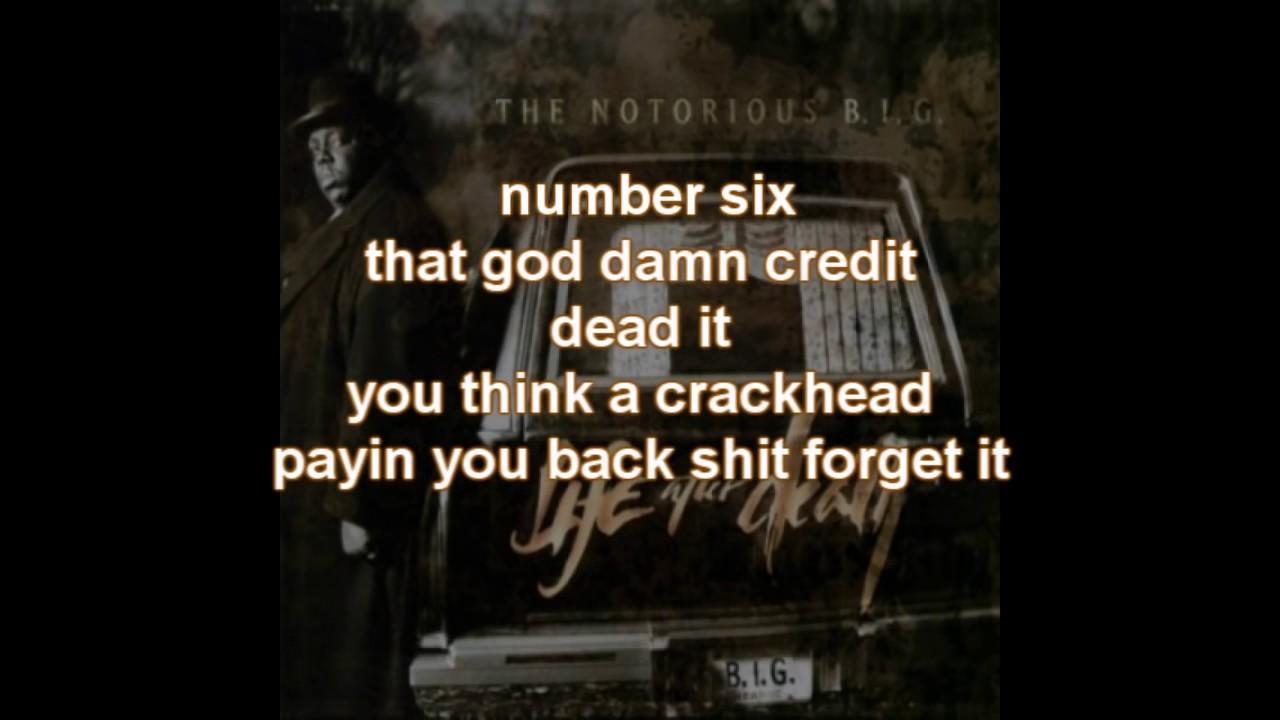 Biggie Smalls - Ten Crack Commandments Lyrics