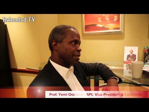 Interview With Prof. Yemi Osibajo Vice Presidential Candidate of The APC In London.