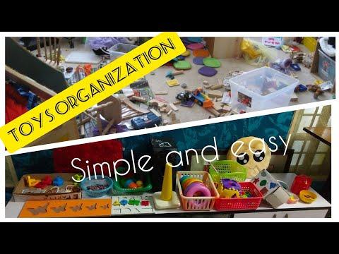 toys organization/clean and neat play/motesoori inspired shelf organisation/toys tray setting